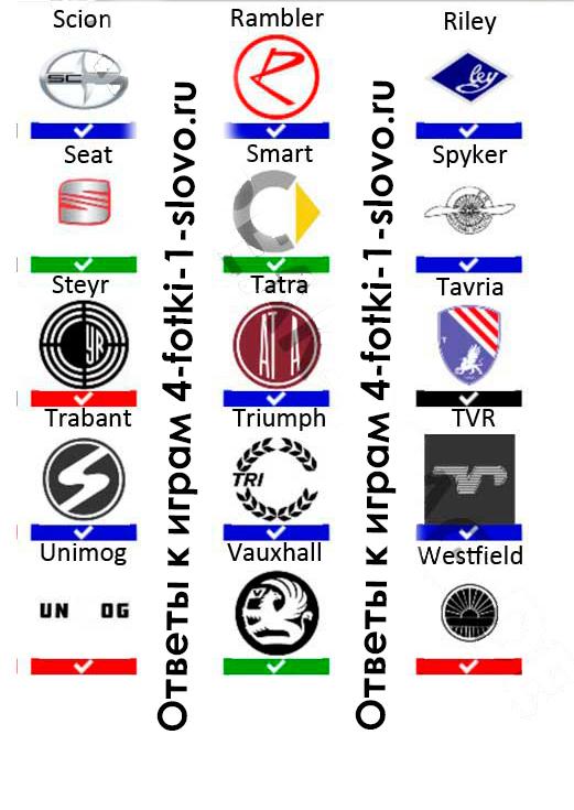 car logo quiz ответы с картинками